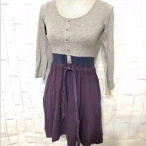 Theory size small purple grey dress